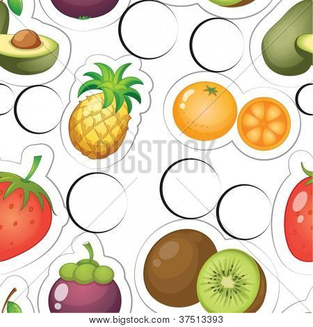 illustration of fruits on a white background