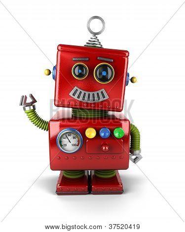 Waving Vintage Robot