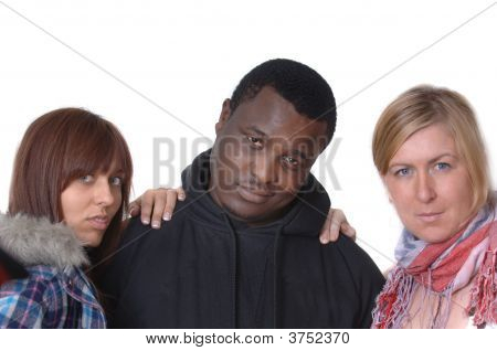 Black American Gangster And Girls