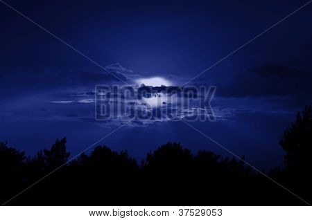 Vollmond Nachthimmel
