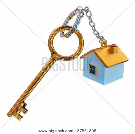 golden keys from the house with charm