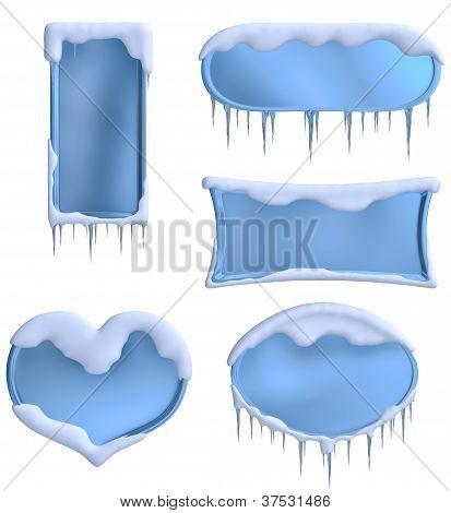 conjunto de Marcos azules
