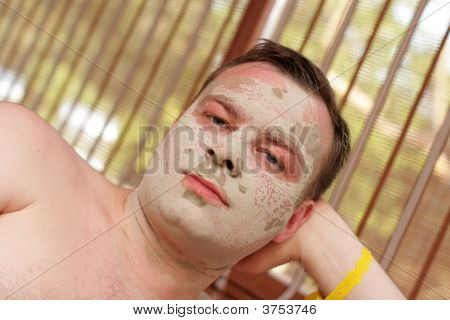 Man In Cosmetic Mask