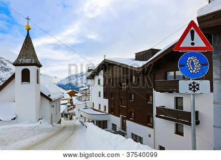Mountains Ski Resort Solden Austria