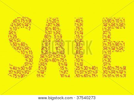 Discount Sale Text Collage