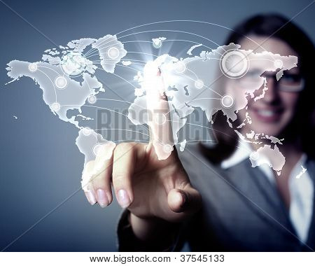 Internet concept of global technology