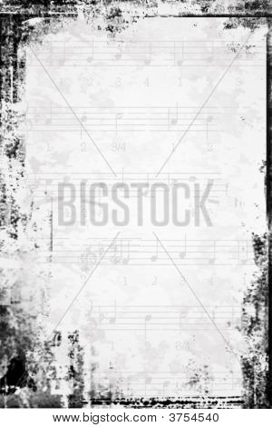 Old Music Score Textured Background