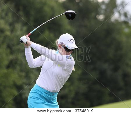 Morgan Pressel at Evian Masters, July 22, 2012