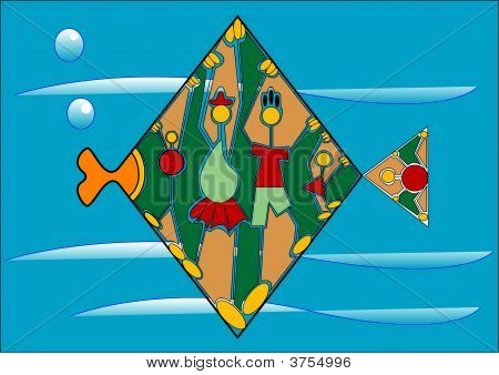 Decorative Fish With Family