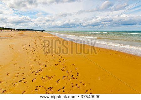Omaha Beach, einem der d Tag Strände der Normandie, Frankreich