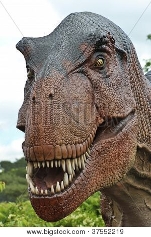 A Tyrannosaurus Hunts In A Cretaceous Forest