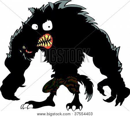 Dibujos animados de lobo enojado