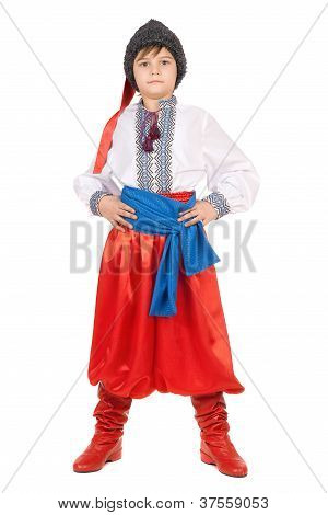 Boy In The Ukrainian National Costume