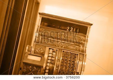 Old-Fashioned Cash Register Background