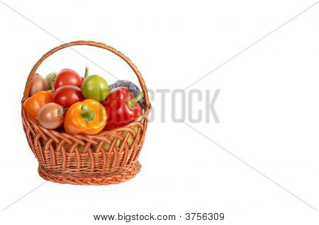 Fresh Vegetables In A Basket #4.