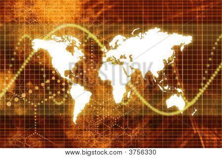 Orange Aktienmarkt Weltwirtschaft