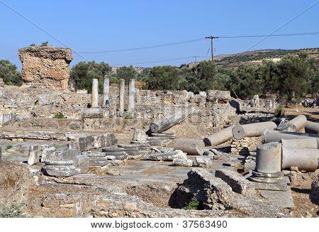 Ancient Gortyba at Crete island, Greece
