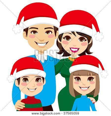 Santa Family Portrait