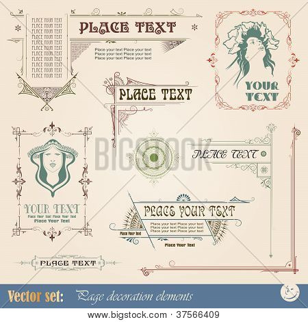 Template for the design of advertisements and other products