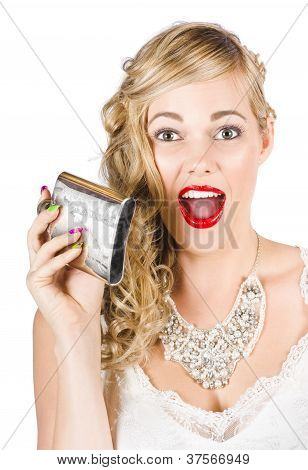 Bride Holding Alcohol Flask During Hens Night Out