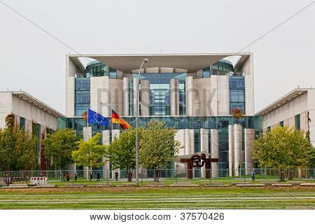 Look for a building of department of the federal chancellor of Germany Berlin