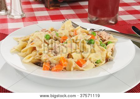Closeup Of Tuna Casserole
