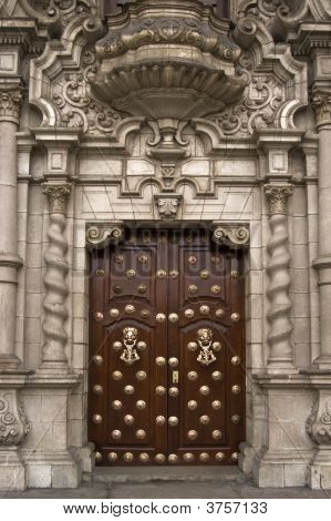 Cathedral Of Lima. Door.