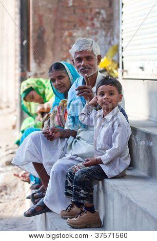 Indian pilgrims in Varanasi