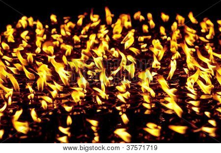 Candles At Boudhanath Temple