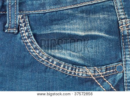 Front Pocket With A Seam