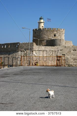 Lighthouse In Rhodes Greece