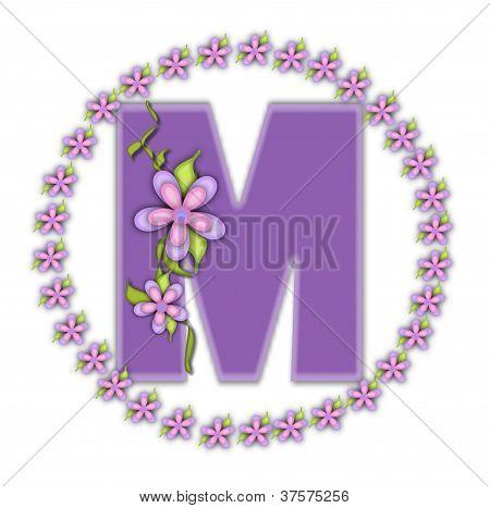Alphabet Petite Ring Of Petals M