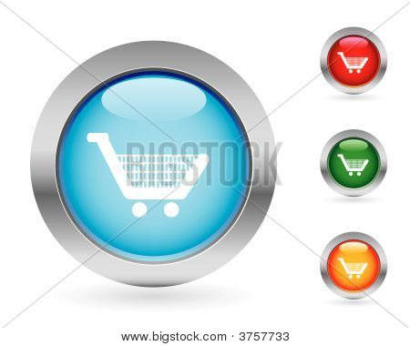 Glossy Shopping Buttons