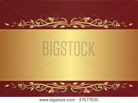Fondo de Borgoña y oro
