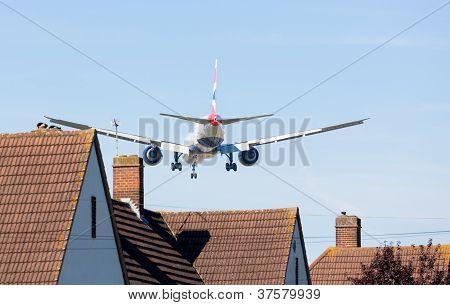 British Airways Boeing 777 Lands At Heathrow