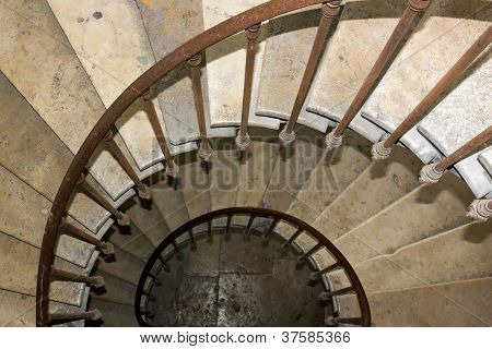 staircase of 19 th century, in snail