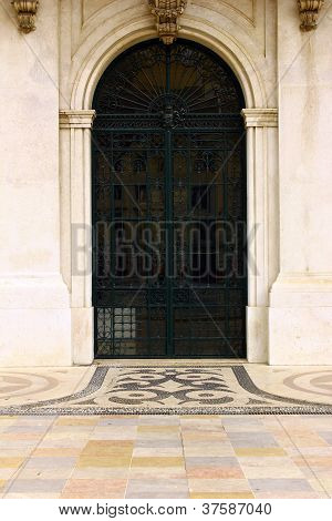 Detail of an old door at Lisbon, Portugal