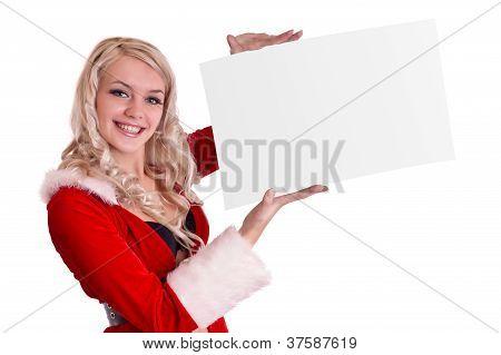 Blank Sign - Christmas