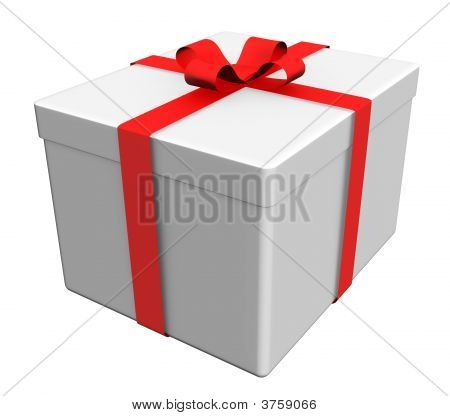 Gift Box On White - Path Included