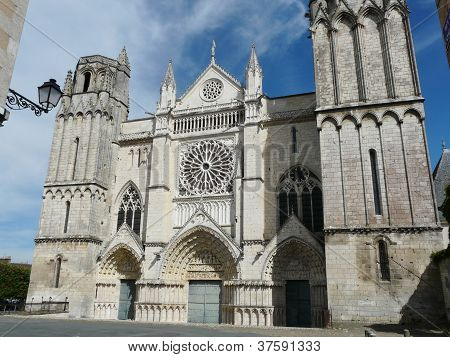 Church of St. Pierre in Poitiers, France