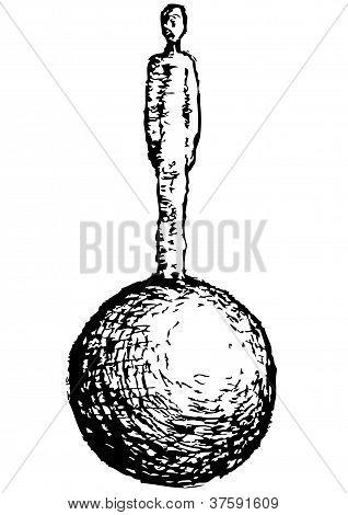 Man On Sphere