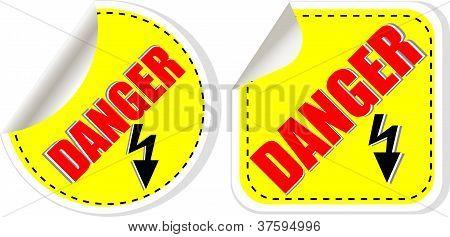 Vector Warning Danger Sign Set, Vector