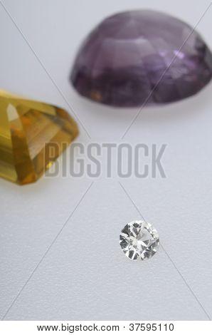 Close Up Of Diamond Stone