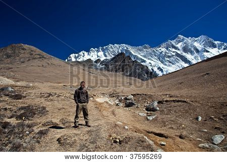 Mountain landscape in the Nepal Himalaya