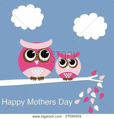 Chubby Owl Collection, Happy Mothers Day Series