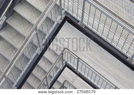 Steel Staircase With Multiple Levels