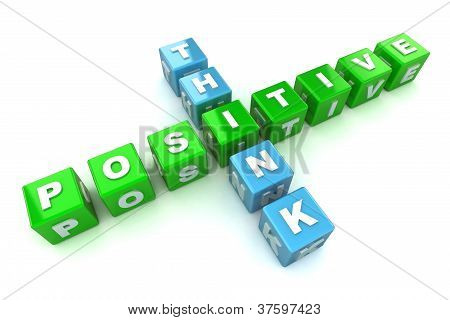 Think Positive Concept Illustration