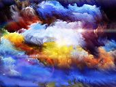 foto of hallucinations  - Background design of dreamy forms and colors on the subject of dream imagination fantasy and abstract art