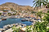 foto of hydra  - A view of the port on the Greek Island Hydra - JPG