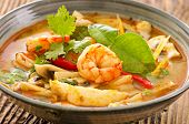 stock photo of gai  - Tom yam nam khon soup - JPG